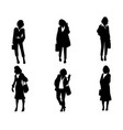 women silhouettes set vector image