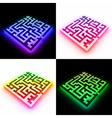 Set labyrinth vector image