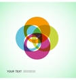 Color round abstract forms eps10 vector image