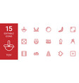 15 toy icons vector image vector image