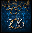 2016 Christmas and Happy New Year Party flyer vector image vector image
