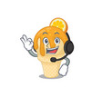 a gorgeous orange ice cream mascot character vector image vector image