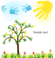 abstract hand tree background vector image vector image