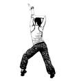 aerobics pose vector image vector image