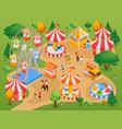 amusement park background vector image vector image