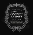 antique frame vintage hand drawn blackboard label vector image vector image