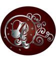 aquarius zodiac sign in circle frame vector image vector image