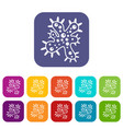 bacteria icons set vector image vector image
