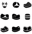 beef icon set vector image