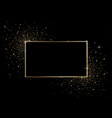 black background with golden frame vector image vector image