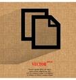 blank paper Flat modern web design on a flat vector image