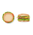 burger mockup for your design delicious hamburger vector image vector image