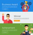 business award winner achievement flat design
