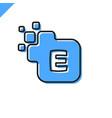 business corporate square letter e font logo vector image vector image