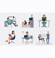 business people working in the office office vector image