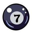 cartoon image of pool ball icon billiard symbol vector image