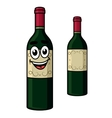 Cartoon wine bottle vector image vector image