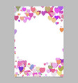 chaotic heart page template design - valentines vector image vector image