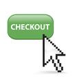 Checkout Button Click vector image vector image