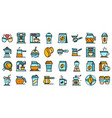 coffee icons set flat vector image vector image
