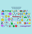 colored infographic business icons collection vector image vector image