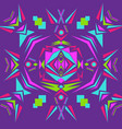 colorful aztec pattern vector image vector image