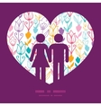 colorful tulip flowers couple in love vector image vector image