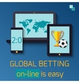 Concept for web banner sports betting statistics vector image vector image