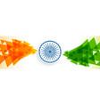 creative indian flag banner design vector image vector image