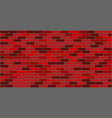 dark red brown brick wall texture vector image vector image