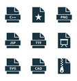 document icons set with document ttf favorite vector image vector image