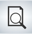 document with magnifying glass icon search concept vector image vector image