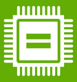 electronic circuit board icon green vector image