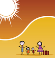 family travel color vector image