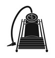 foot pump for car single icon in black style vector image vector image