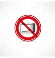 forbidden to use fire icon vector image vector image