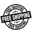 free shipping round grunge black stamp vector image vector image