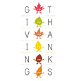 giving thanks vector image vector image