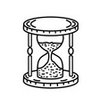 glass hour icon doodle hand drawn or black vector image