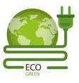 go green world planet vector image vector image