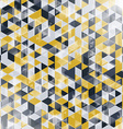 Golden and black geometric background with vector image