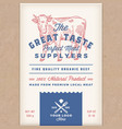 great taste perfect beef abstract meat vector image vector image