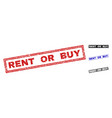 grunge rent or buy scratched rectangle watermarks vector image vector image