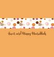 hanukkah dougnut jewish holiday symbol sweet vector image vector image