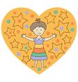 kids heart2 vector image vector image