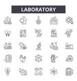 laboratory line icons signs set outline vector image
