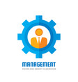 management - business logo template concept vector image