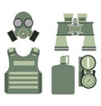 military body armor symbols armor set forces vector image vector image