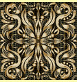 modern gold paisley seamless pattern vector image vector image