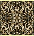 modern gold paisley seamless pattern vector image